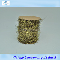 Vintage silver Christmas tinsel with glass from Shenzhen factory