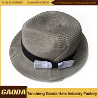 fashion design popular mini straw paper fedora hat