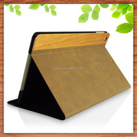 high quality best price leather wooden case for iPad mini 4, real wood for iPad mini 2/3/4 leather case