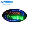 Acrylic Flasher Advertising Eyelash Shop LED Moving Sign Factory Supplier