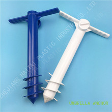 Plastic Beach Umbrella/ Tent/ Fishing Pole Anchor Sand Screw