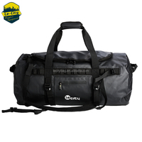 Durable foldable travel bag waterproof duffle pack gym sport bag with shoes compartment