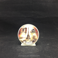 wholesale custom ceramic city travel souvenir gift with Eiffel Tower printing