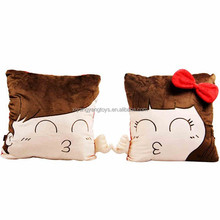 Valentines day cute couple pillow stuffed plush pillow for gifts