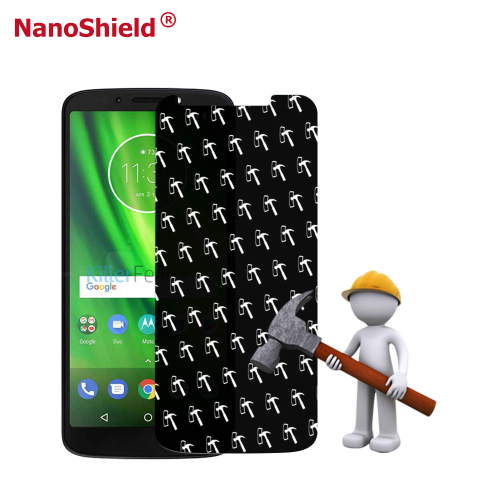 Ultra Strong Nanoshield Bendable Anti <strong>Shock</strong> Anti Hammer Screen Film For Moto G6 Play Screen Protector