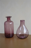solid purple color wholesale bubble glass vases