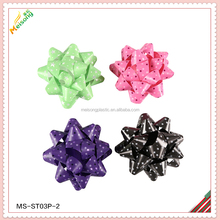 Hot sale Christmas Decoration and Gift Ribbon Star Bow