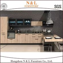 2017 New Design HPL Moisture-Proof Particle Board Faced Melamine Kitchen Cabinet