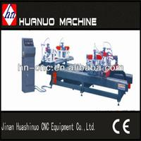 Four-point crimping machine fabrication of aluminum windows and doors