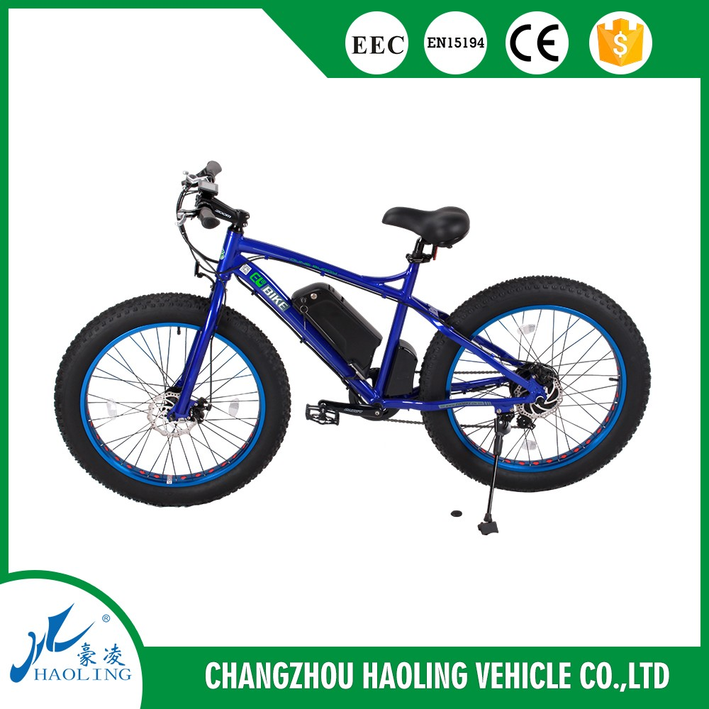 26*4.0 inch 36V 350W Beach Snow Mountain Dirt Fat Tire Electric Bike