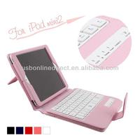 Black pink white red blue wireless bluetooth 3.0 keyboard case for ipad mini 2