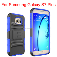 2016 New model 3 in 1 phone case sillion PC rugged shockproof back cover case for Samsung galaxy s7 plus -----laudtec