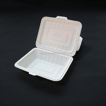 Factory price customized plastic biodegradable lunch box with lid