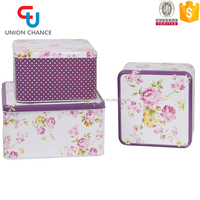 Large Food Contact Metal Storage Box Tin Box for Cookies