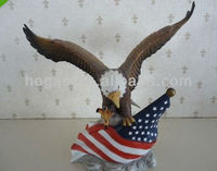 American eagle figurine, resin eagle