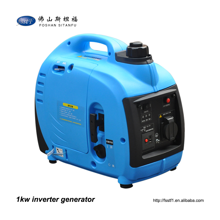1 kw 1.5 kva 220 volt ac mini silent portable inverter generator for home use