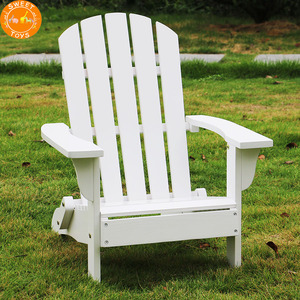 Outdoor leisure white color kids folding wood adirondack chair