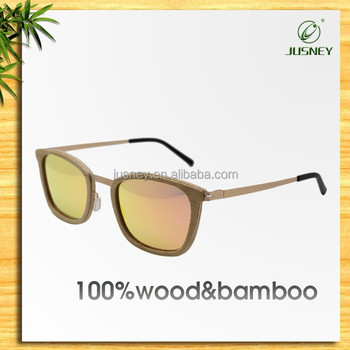 Wholesale Wooden Mirror Polarized Sunglasses For Mens With Your Logo
