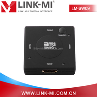 LM-SW09 HDMI 3 input to 1 output Audio Video Switch for HDTV