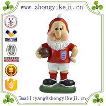 factory custom-made handmade carved fashion resin football gnomes