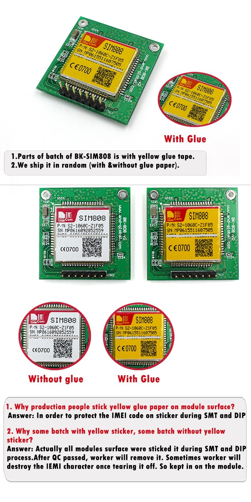 Smallest Size Bluetooth Version GPS GSM SIM808 Breakout Board