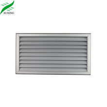 anodized finished bathroom door transfer grille aluminum louver door
