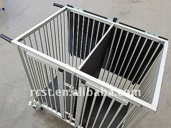 folding aluminum pet cage trolley