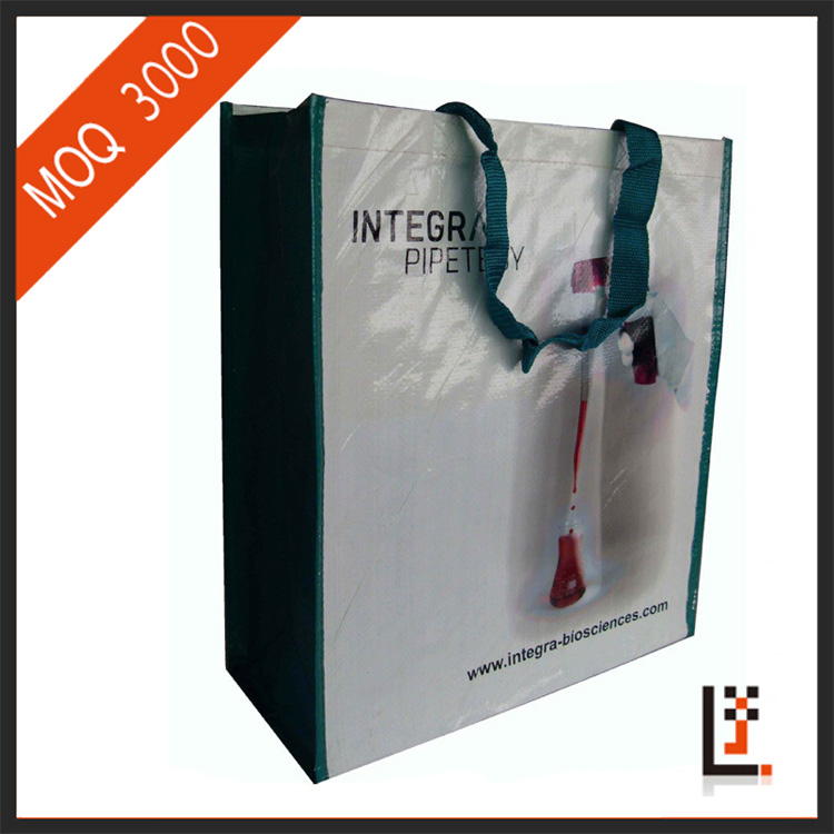 customized durable pp woven shopping bag with logo printed