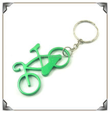 Bicycle shaped metal bottle opener keyring