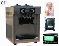 2+1 flavors soft serve countertop ice cream machine