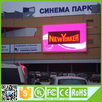 High brightness Outdoor led advertising Pitch 6mm display, P6 electronic advertising led display screen