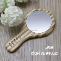 factory pocket wood wooden carved frame hand mirror