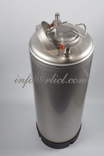 Stainless Steel 304 Ball Lock Cornelius style Beer Keg - 19 Litre/5Gallon, Lid with Pressure Relief Valve, New, Homebrewing,