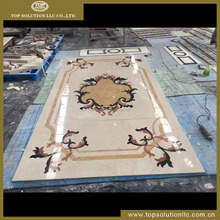 new design marble floor waterjet medallion