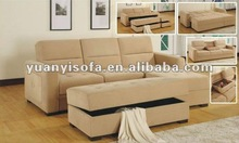 2012 unique design modern fabric sofa bed, sleeping sofa with storage function YB2207