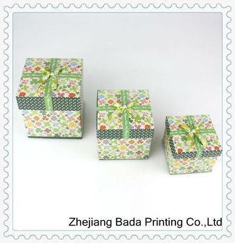 Customized Color Paper Gift Packing Boxes