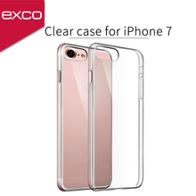 EXCO 0.6mm clear TPU light packaging custom liquid phone case for iPhone 7