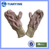 women cable design chunky Knitted gloves