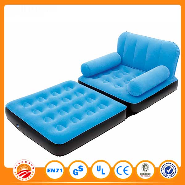 2016 Cheap 5 In 1 Inflatable Folding Flock Pvc Sofa