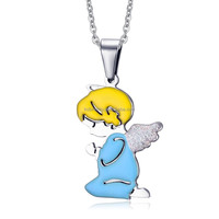KSF Stainless Steel Jewellery Pendant Necklaces Children Jewelry Angel Pendant