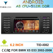 Car DVD Android 4.0 for BMW X5 E39 E53 with Phonebook iPod 3G WIFI 20VCDC CPU1GMHZ RAM512MB 4G Memory S150