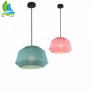 Modern Custom Wool Knitting Ceiling Pendant Lamp For European North American Market