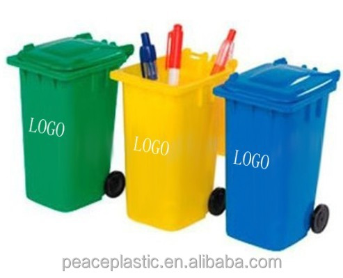 2014 high quality plastic garbage bin with lid