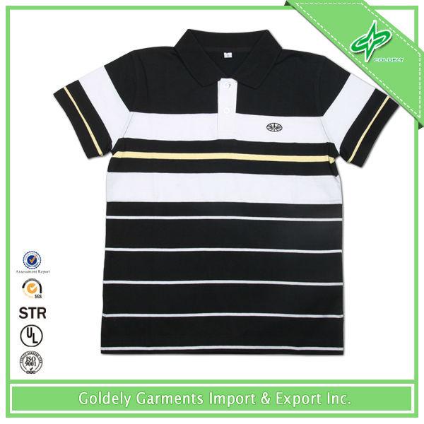 Hot Sale Double Mercerized Cotton Men's High Quality Color Combination Polo T Shirt