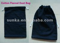 Black Cotton Flannel Dust Bag