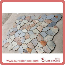 Natural rusty crazying paving stone slate