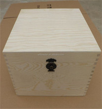 cheap wholesale high quality unfinished wood craft hinged box