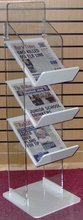 modern design clear wall-mounted acrylic newspaper rack