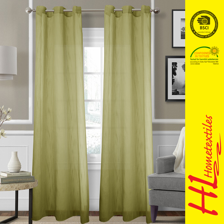 exporting standard new arrival rustic curtain design for hall