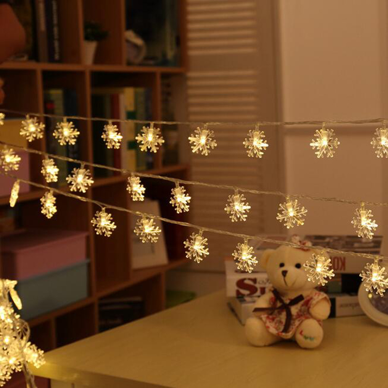 DM 552 Festivel decoration ornament LED snowflake bunch colorful indoor outdoor christmas tree lights